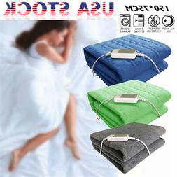 60w Non-woven Fabric Electric Heated Blanket Throw Over Unde