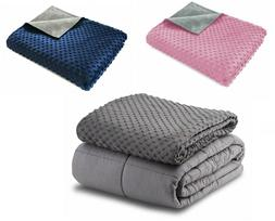 7-20 lbs Weighted Blankets Twin/Full/Queen/King Size 100% Co