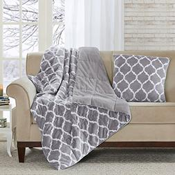 Madison Park Ogee Luxury Oversized Down Alternative Throw Gr