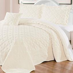 Serenta Faux Fur Quilted Tatami 4 Pcs Bedspread Set, King An