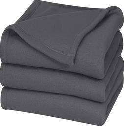 Thermal Bed Blanket Polar Fleece Soft Brush Fabric by Utopia