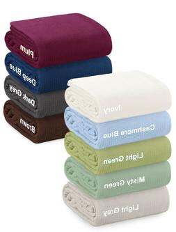 Crover All Season Thermal Waffle Cotton Blanket With Deep Pl