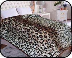 Animal Leopard skin Blanket, Korean Comfy, Safari Mink blank