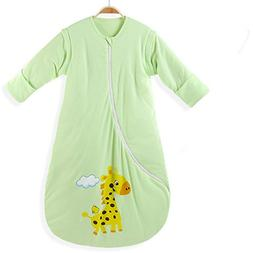 EsTong Unisex Baby Cotton Sleeper Gowns Wearable Blankets Sl