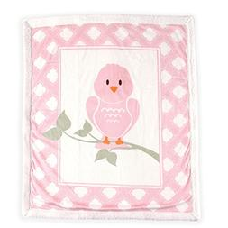 Luvable Friends Blanket with Sherpa Backing, Bird