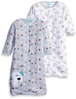 BON BEBE Boys' Paws Assorted 2 Pack Wearable Blanket, Puppy