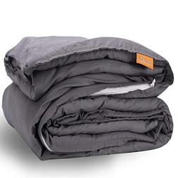 rocabi Blanket Weighted 30 lbs & Cool Cotton Cover Set | Que