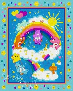 Care Bear Fabric Paint a Rainbow Quilt Panel Quilting Blanke