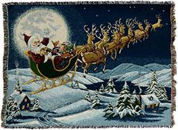 Pure Country Weavers - Christmas Magic Woven Tapestry Throw