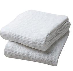 Elivo 100% Cotton Hospital Thermal Blankets - Open Weave Cot