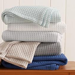 100% Cotton Waffle Weave Premium Blanket. Lightweight and So