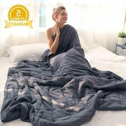 Cotton Weighted Blanket for Adults Reduce Anxiety Stress 60""