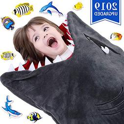 Cozy Shark Tails Blanket by CozyBomB for Kids - Smooth One P