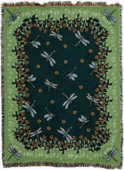 Pure Country Weavers - Dancing Dragonfly Woven Tapestry Thro