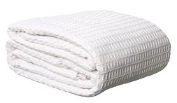 Deluxe 100% Soft Cotton Thermal Waffle Weave Blanket - KING