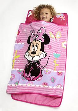 Disney Minnie Mouse Nap Mat Fun Color Quilted Roll Up Quickl