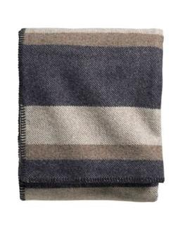 Pendleton Eco-Wise Easy Care Blanket, Twin, Midnight Navy St