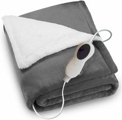 VIPEX Electric Heated Plush Throw Blanket 50 x 60'' with Rem