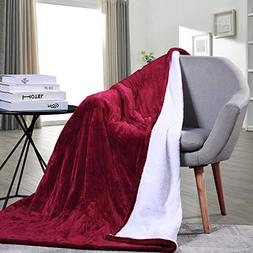 MaxKare Electric Heated Throw Blanket with Auto Shut Off, Fa