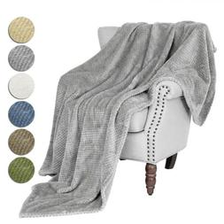 Faux Fur Reversible Throw Sherpa Soft Thicken Fleece Plush W