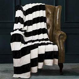flannel throw blankets super soft with black
