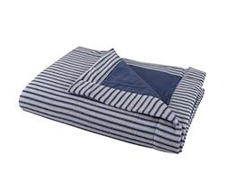 DELANNA Flannel Throw, Reversible 2-Ply Thick Blanket 100% C