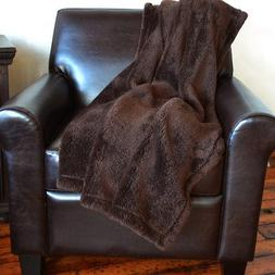 Fluffie Throw by Berkshire Blanket, Chocolate