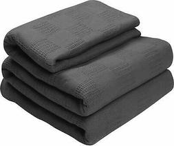 Utopia Bedding Grey King Size 100% Cotton Breathable Thermal