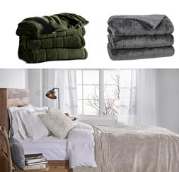 Heated Electric Ultra Soft Cozy Microplush Blanket Twin Full