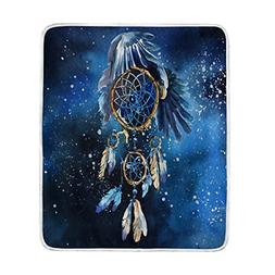 ALAZA Home Decor Watercolor Dreamcatcher Eagle Feather Blank