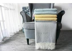 Home Soft Things Knitted Tweed Throw Couch Cover Weighted Ta