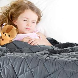 Kids Weighted Blanket,Bed Couch Heavy Blanket with 100% Cott
