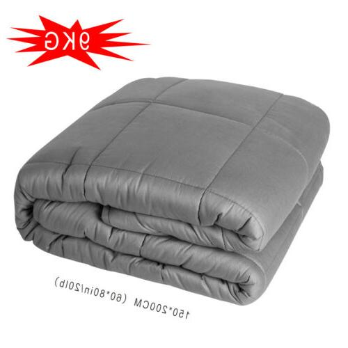 """US Home Weighted Blanket for Adults Reduce Anxiety Stress 60"""" 25 LBS"""