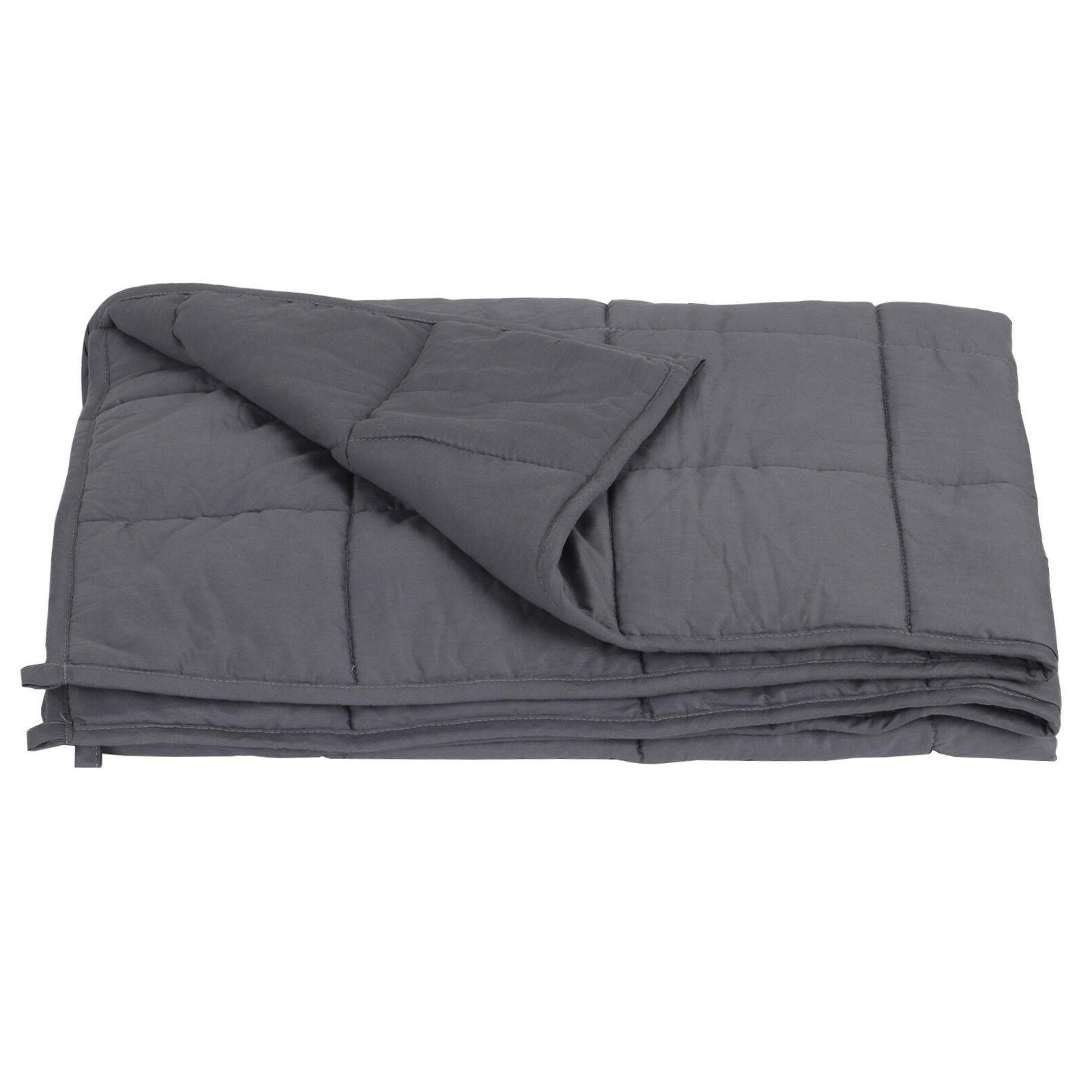 "Full Queen Size Reduce 60"" x80"" Weighted Blanket Stress Prom"