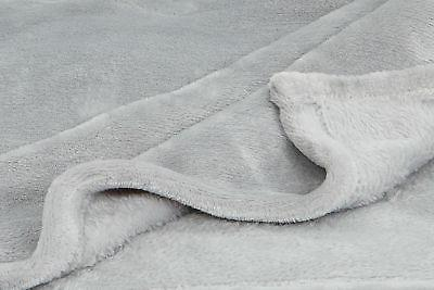 Bed Silky Soft Solid Plush