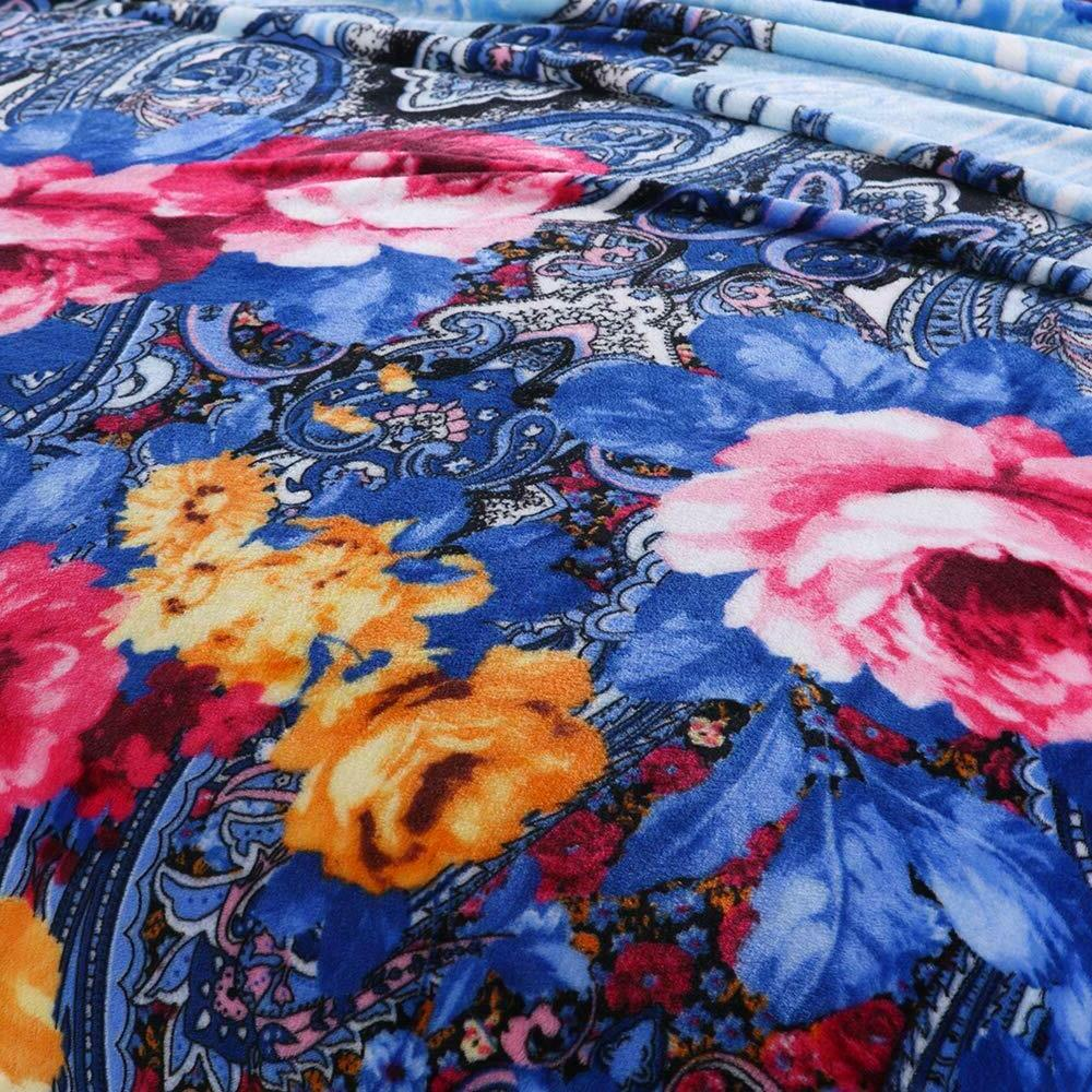 Blooming Flowers Blankets Queen King Size