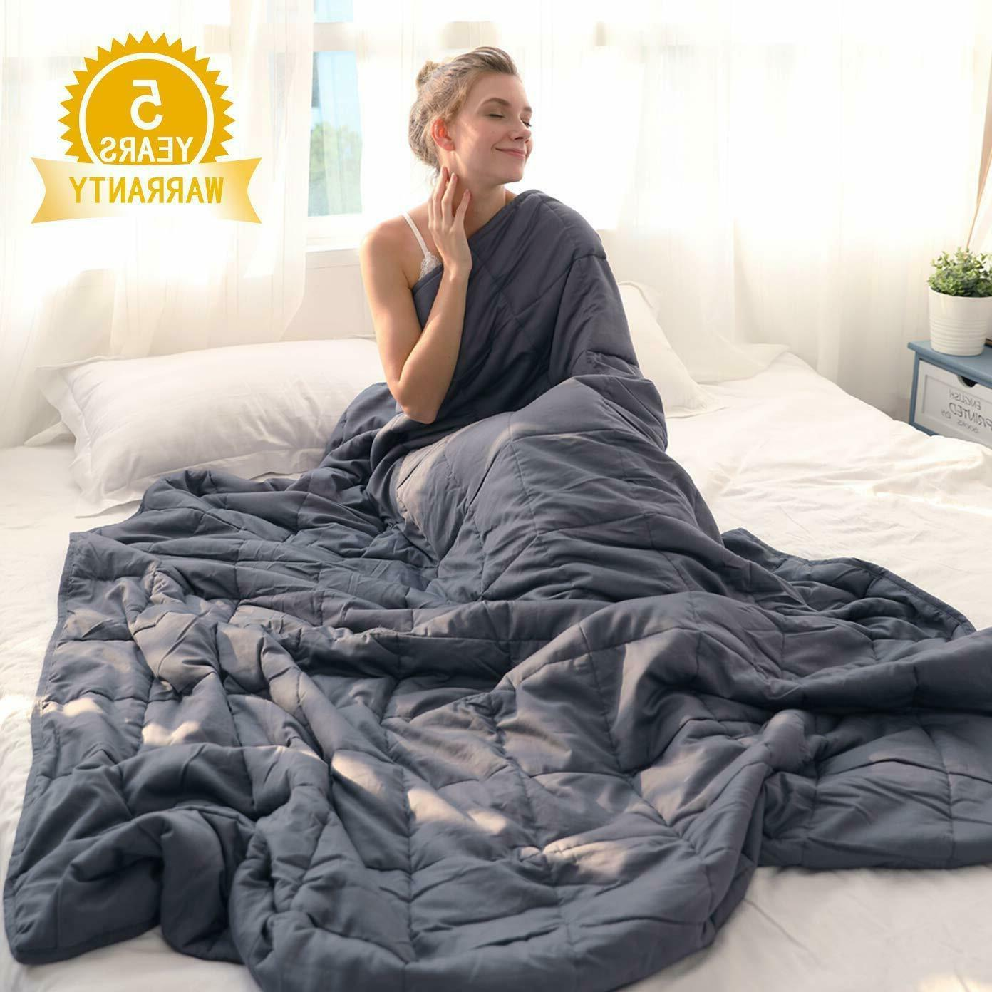 cotton weighted blanket for adults reduce anxiety