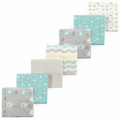 Luvable Friends Unisex Baby Flannel Receiving Blankets 7-Pac