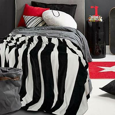 Flannel Blankets Soft Black And White 68 Inches