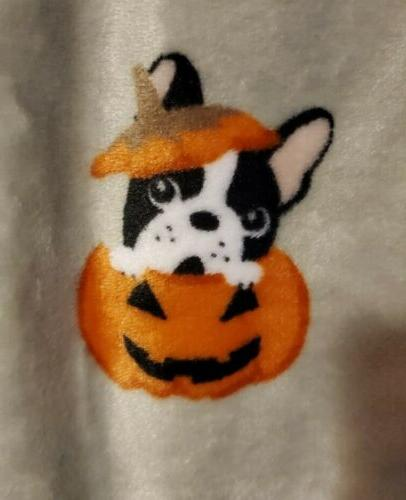 French Halloween Throw Blanket Frenchie
