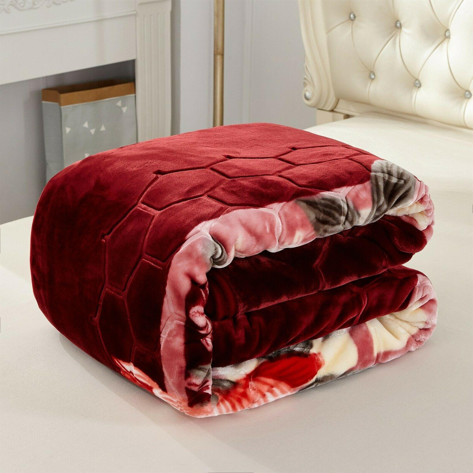 Heavy Thick Blanket Winter Warm Blanket King size Bed Lbs