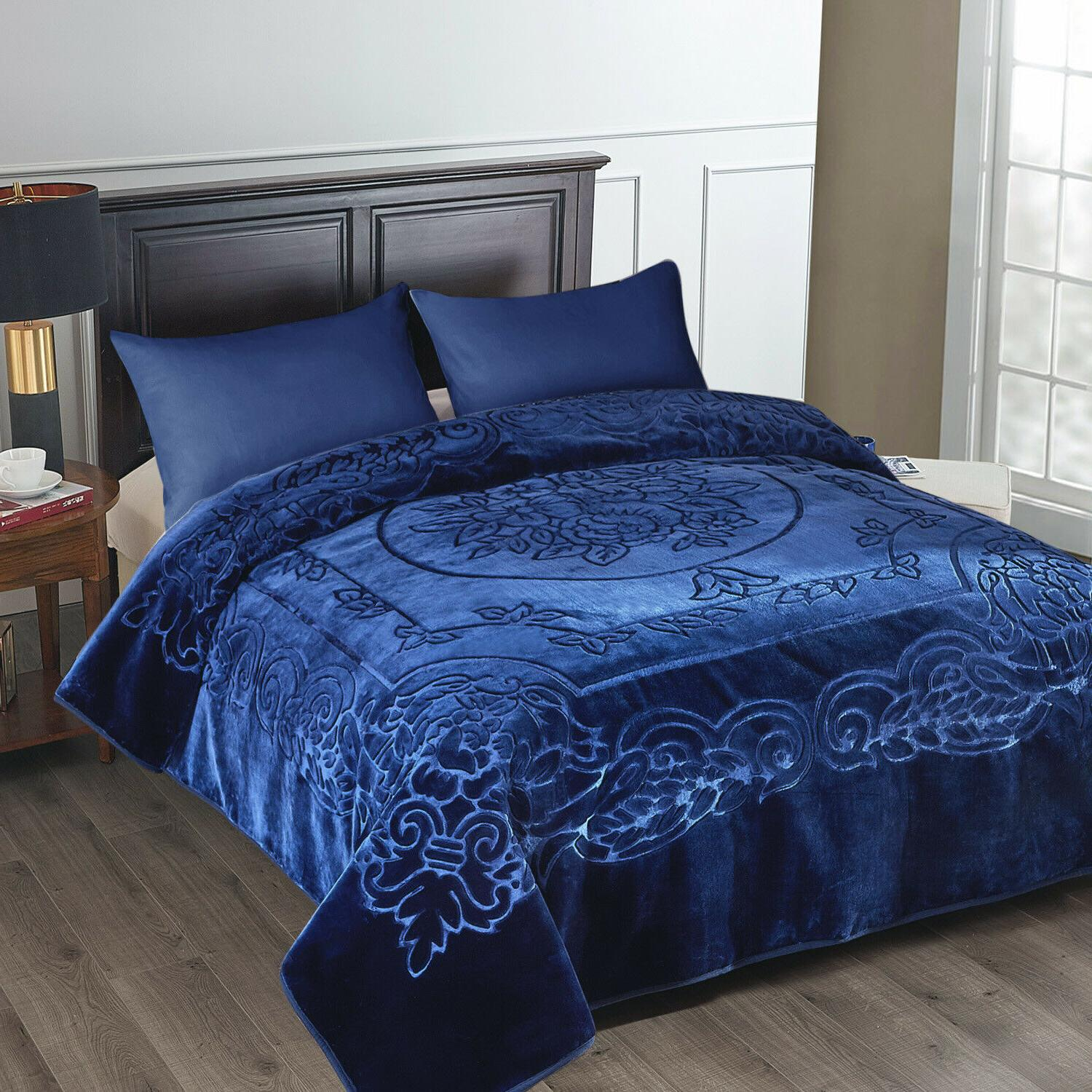 Heavy Thick Korean Blanket X 95 Inches- Size Classic Colors
