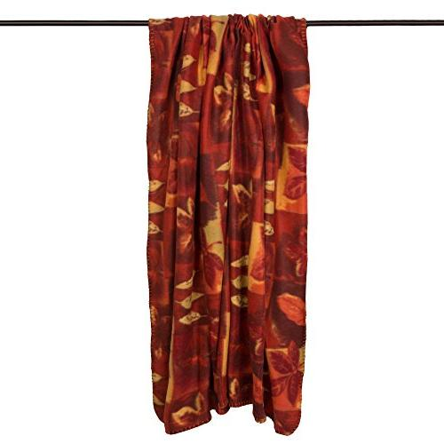 J&M Home Fashions Holiday Thanksgiving Fleece Blanket Warm for Bed, Couch, Picnic, Camping,