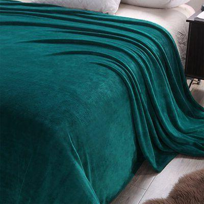 Exclusivo Luxury Size Flannel Plush Solid Bed Blanket