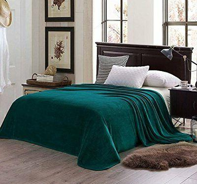 Exclusivo Queen Size Flannel Solid Bed