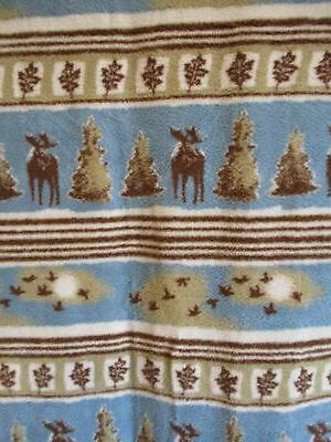 """New Old Stock Soft Throw Blanket Lodge Moose 50"""" 68"""""""