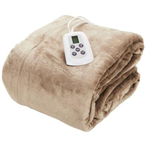 queen size microplush electric heated blanket