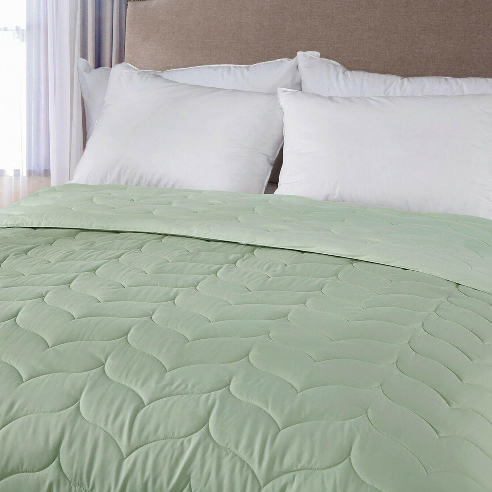 Quilted Comforter Lightweight Reversible Size
