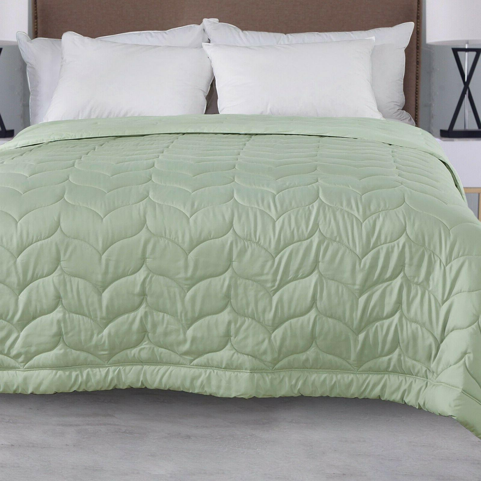 Quilted Down Blanket Comforter Lightweight Reversible King Size