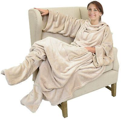 Catalonia Wearable TV Blanket with Sleeves Large Wrap Throw